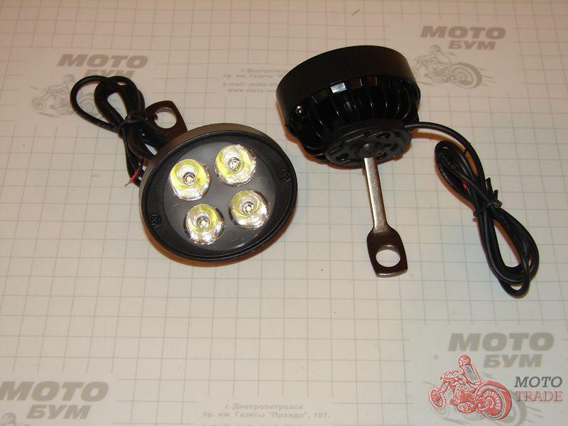 Фара LED, дополнительная светодиодная фара. 2х4 LED.